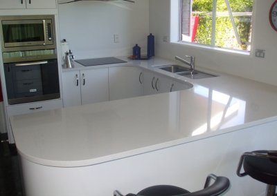 30mm White Engineered Stone