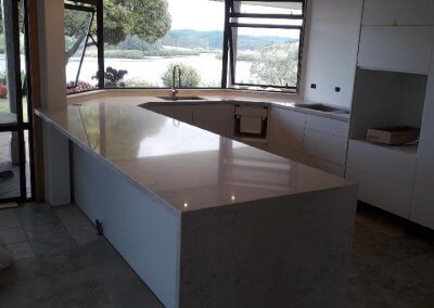 40mm Bianco Rivers Silestone