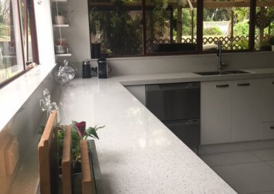 Blanco Stellar Silestone 60mm with window sills and upstands