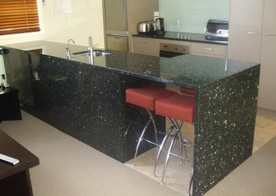 Emerald Pearl Granite 30mm Waterfall End & Surrounds