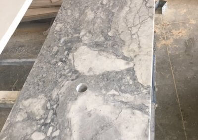Super White Granite Vanity made from offcut 30mm